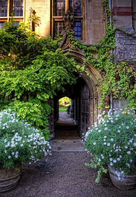 """orplid: """"Oxford - The passage to the chapel at Balliol College in spring """""""