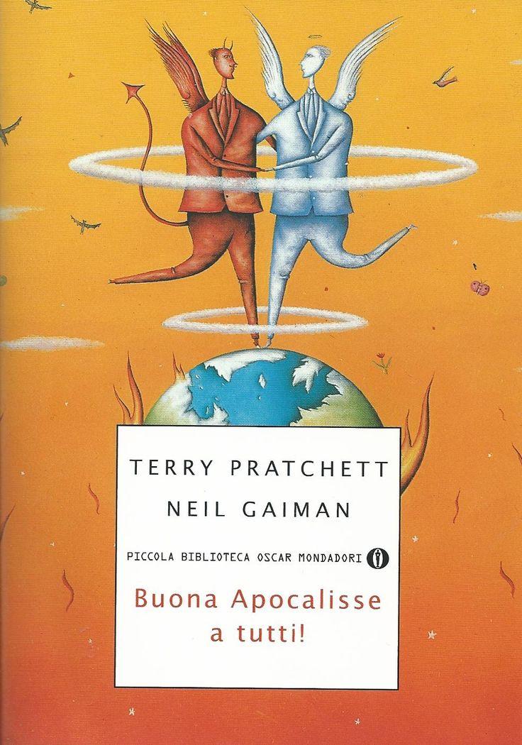 """Buona Apocalisse a tutti! (titolo originale: Good Omens, """"Buoni presagi"""") è un romanzo scritto a quattro mani da Terry Pratchett e Neil Gaiman (1990). Buona Apocalisse a tutti! è una favola surreale e dark, eccessiva e divertentissima."""