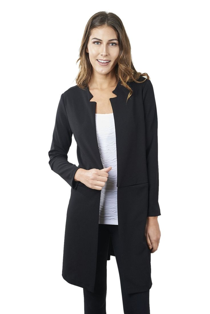 Black Cover-up with Cut-out collar