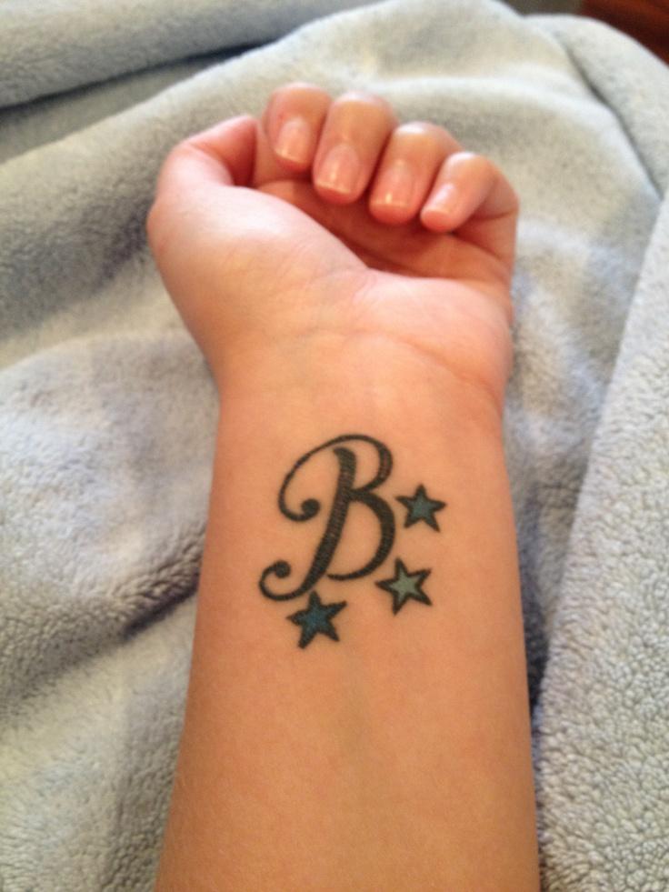 B Tattoo Images