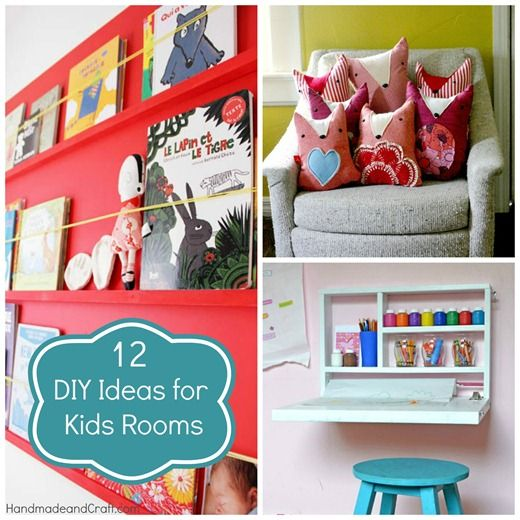 12 DIY Ideas for Kids RoomsDiy Home Decor, 12 Diy, Diy Ideas, Crafts Ideas, For Kids, Kids Room, Kids Crafts, Kid Rooms, Diy Projects
