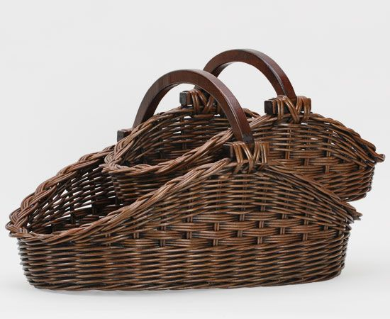 Gathering Basket, 2 sizes shown in Antique Walnut Brown