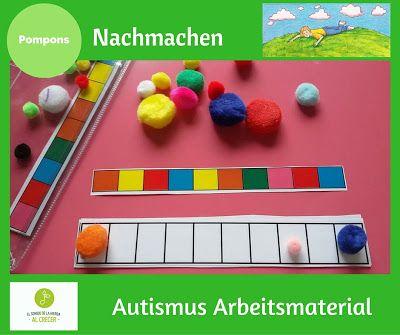 Autismus Arbeitsmaterial: Logik mit Pompons: nachmachen