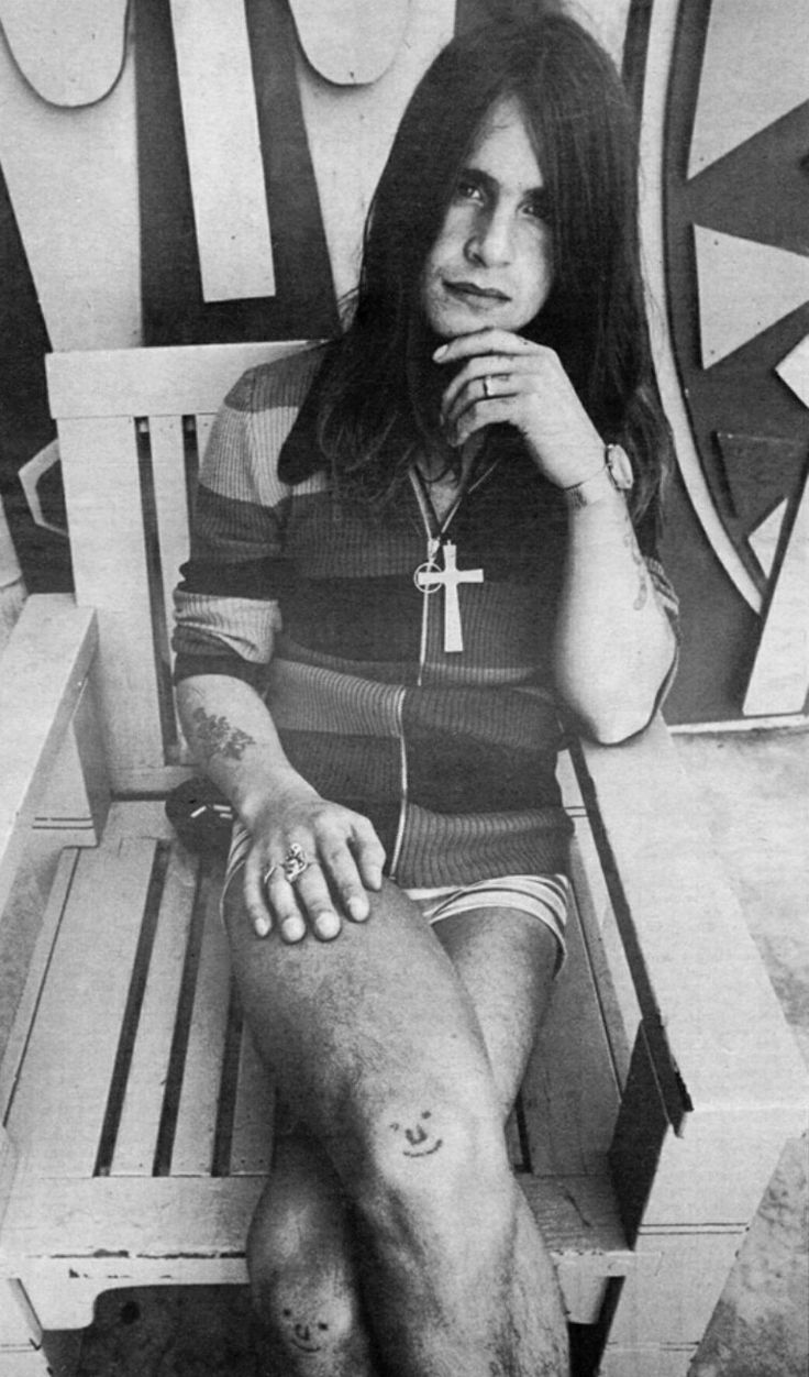 Ozzy Osbourne in 1971, photographed for Rolling Stone by Annie Leibovitz