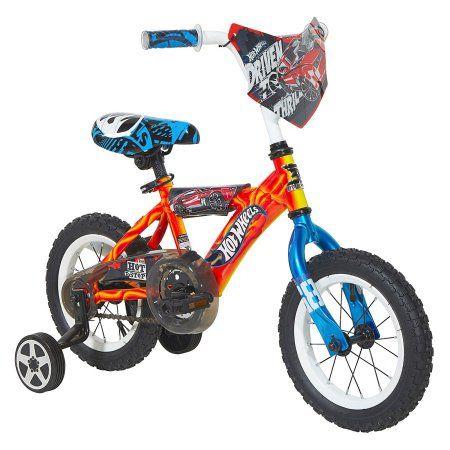 12 inch Dynacraft Hot Wheels Boys' Bike with Turbospoke, Red
