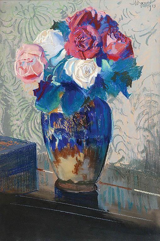 Roses - Leon Jan Wyczolkowski Impressionism