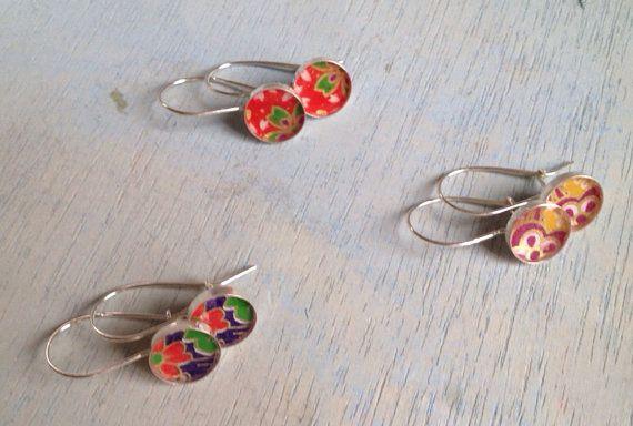 Sterling silver earrings flowers/ sterling zilveren oorbellen bloemen op Etsy, 24,00€