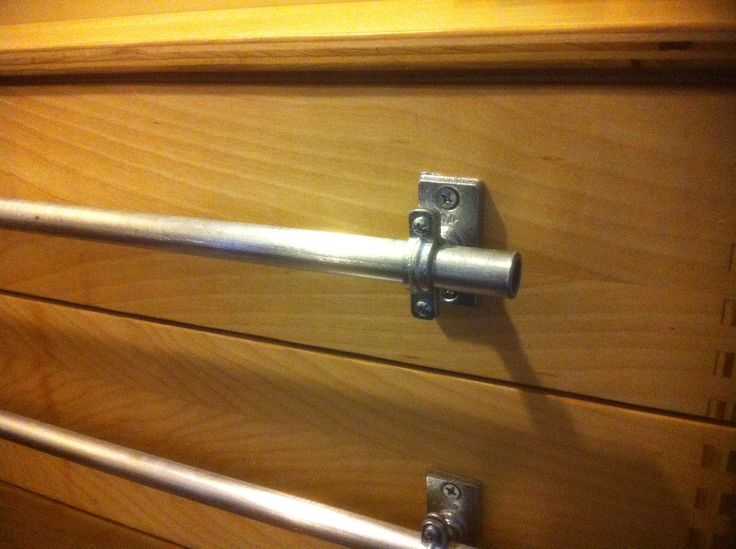 Drawer Pulls Made From Gas Pipe And Split Ring Hangers