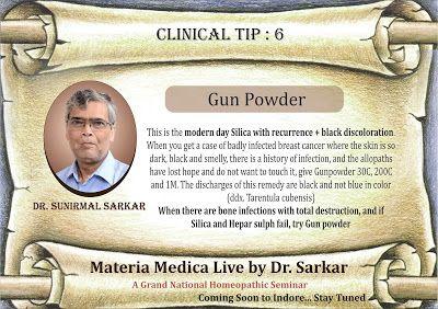 Materia Medica Live by Dr. Sarkar: Materia Medica Live by Dr Sarkar : Clinical tips