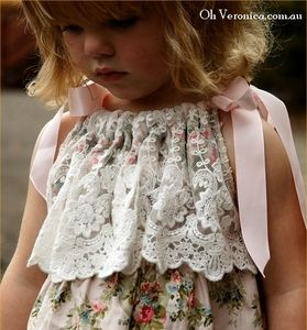 great idea to add lace to a pillow case dress @Liz Davis - thought of you when I saw this!!!