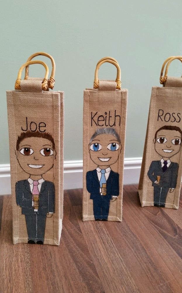 Bottle bag great gift for wedding party best man usher father of the bride etc