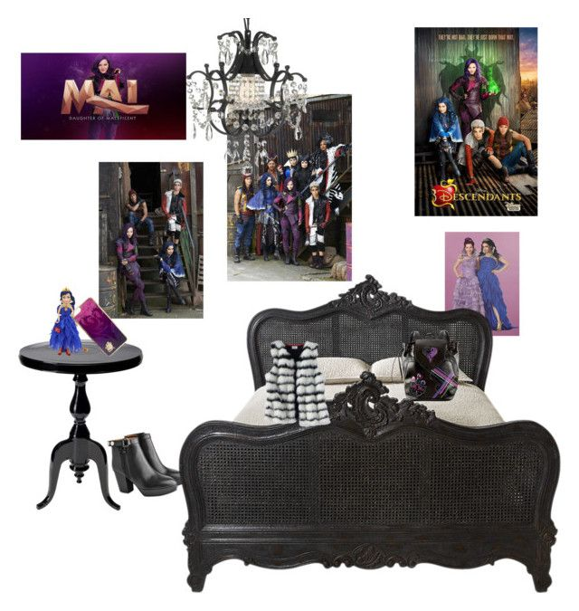 """Descendants room (my BFF)"" by awesome-sparkle-girl ❤ liked on Polyvore featuring interior, interiors, interior design, home, home decor, interior decorating, Acne Studios, Disney and Gallery"