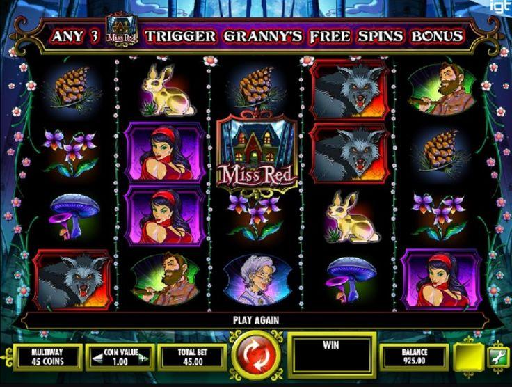Miss Red-automaten fra IGT er baseret på børnenes historie om Rødhætte, og det viser de verdensberømte tegn. #jackpot #Gratisspin #Spillemaskiner #online
