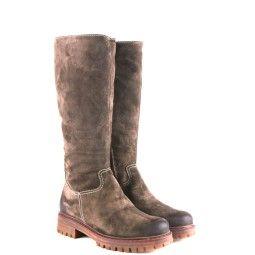 manas dames laarzen op lage hak bruin 62 bruin suede/nubuck Direct leverbaar uit de webshop van taft.nl/
