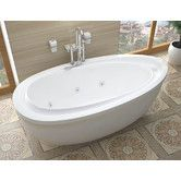 "Found it at Wayfair - Capricia 71"" x 38"" Oval Freestanding Whirlpool Jetted Bathtub with Reversible Drain"