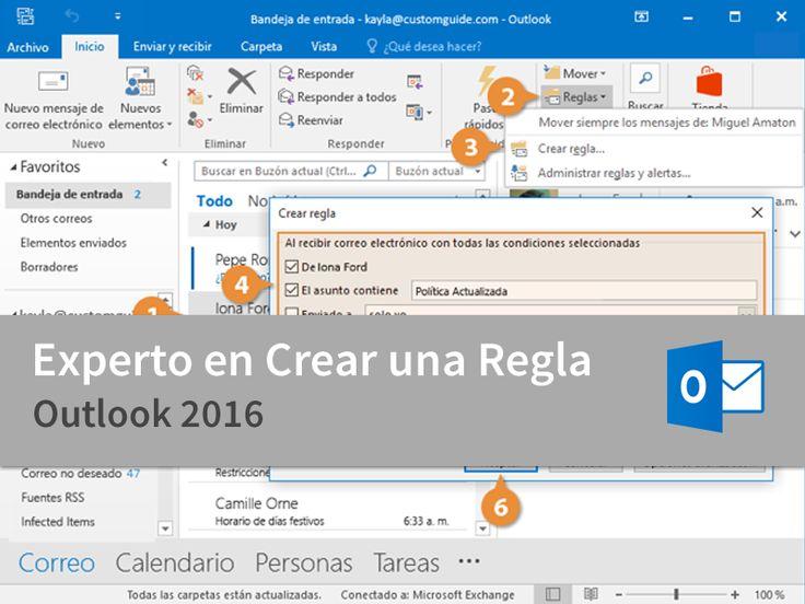 Cursos Gratis - Microsoft Outlook 2016 - Experto en Crear una Regla en 3 Minutos.