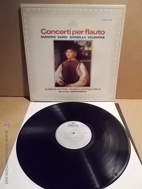 GUDRUN HEYENS. MUSICA ANTIQUA. CONCERTI PER FLAUTO. LP-GATEFOLD/ ARCHIV. MBC. ***/***