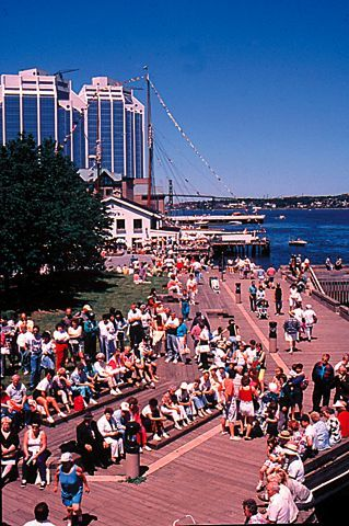 Halifax, Nova Scotia, Canada's waterfront.
