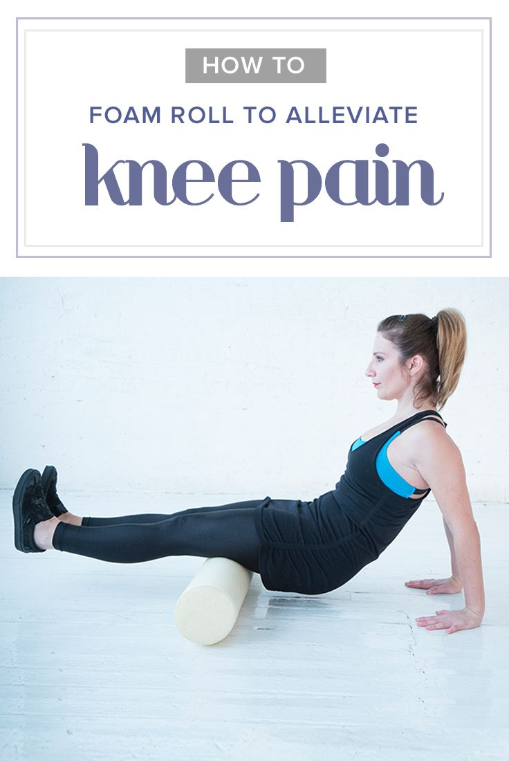 Dealing with knee pain? Try these 3 simple, foam rolling stretches.