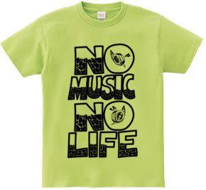 NO MUSIC NO LIFE : ACTGROUND [長袖Tシャツ] - デザインTシャツマーケット/Hoimi(ホイミ)