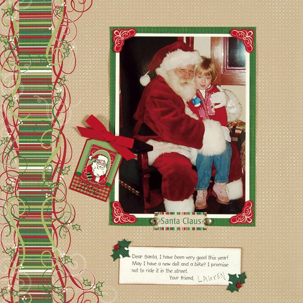 17 best images about christmas scrapbook layout on pinterest baby girls christmas eve and - Scrapbooking idees pages ...
