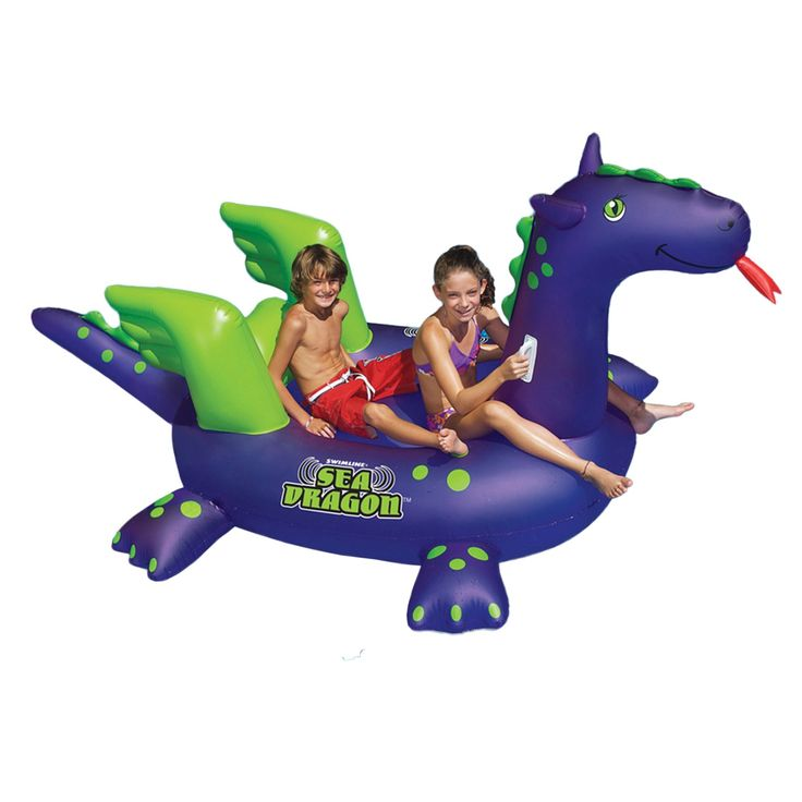 Swimline Giant Sea Dragon 9-ft Inflatable Ride-On Pool Toy, Blue