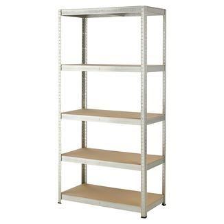 Handson zwaar metalen opbergrek 5 legborden 350 kg/legplank 180x90x45 cm | Opbergkasten & opbergrekken | Tuinhuizen & opbergen | Tuin | GAMMA.be