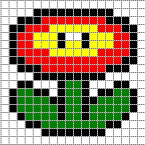 Diy Schemas Des Motifs Mario Bros Perles Pinterest Perle
