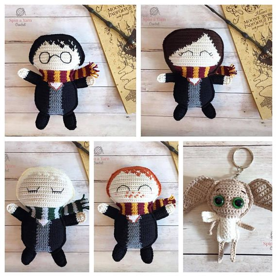 PDF PATTERNS: Ragdoll Wizard Crochet Pattern Ragdoll Witch Crochet Pattern Dobby Keychain Crochet Pattern - - - - - - - - - - - - - - - - - - - - - - - - - - - - - - - - - - - - - - - - - - - - - - - - The Hogwarts Ragdoll Collection is made up of three of our unique amigurumi