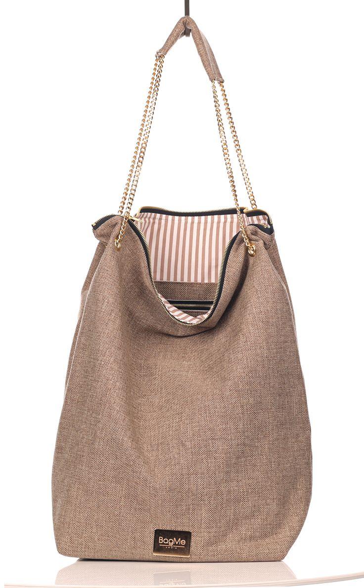 http://www.bagmebysmola.pl/  eko! #eko #beige #bags #bagme #chain #gold #fashion #handmade
