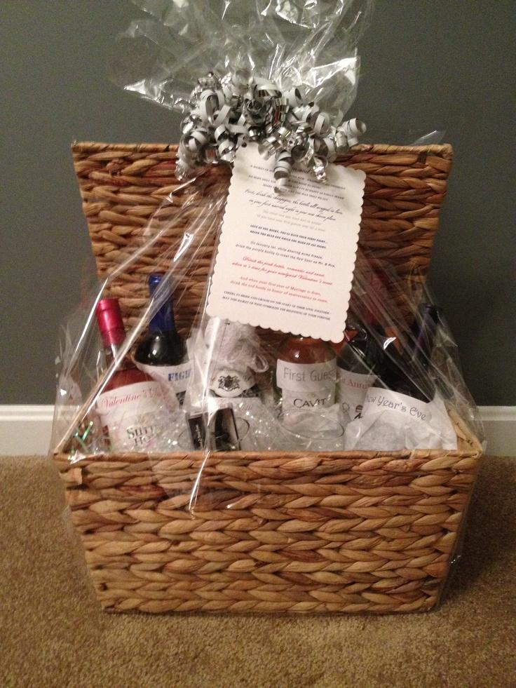 Wedding Wine Basket Shower Gift 11 best