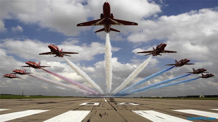 The RAF's equivalent to the United States Air Forces Thunderbirds demonstration team. Description from pinterest.com. I searched for this on bing.com/images