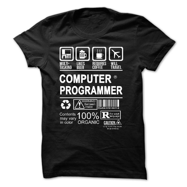 PROUD BEING A COMPUTER PROGRAMMER - 100% Printed in the U.S.A - Ship  Worldwide.