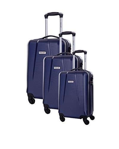 TRAVEL ONE 3er Set Hartschalen Trolley Pandara (blau)