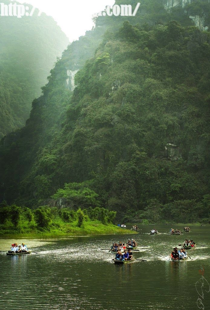 Trang An, Vietnam. Tràng An is a scenic area near Ninh Bình, Vietnam, and is renowned for its boat cave tours.