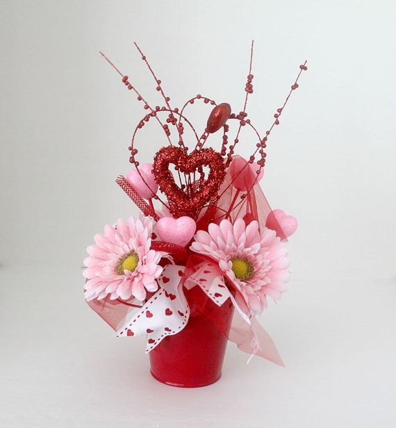 42 best valentine s day silk flowers images on pinterest for Flower arrangements valentines day