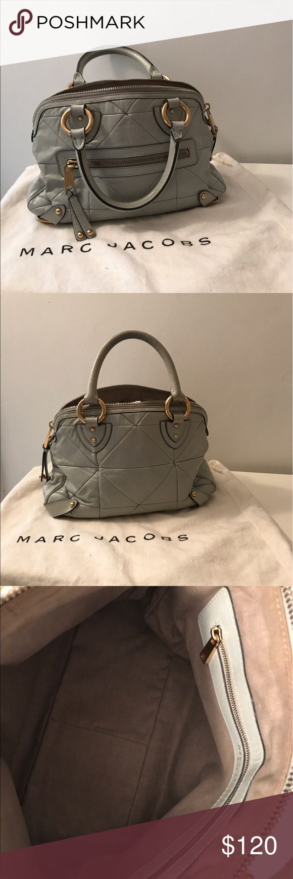 Aborable Marc Jacob Shoulder Bag Mint green Marc Jacob Patchwork Ines shoulder bag. Gold hardware with zipper compartments on the exterior and interior. Great purchase! Marc Jacobs Bags Shoulder Bags