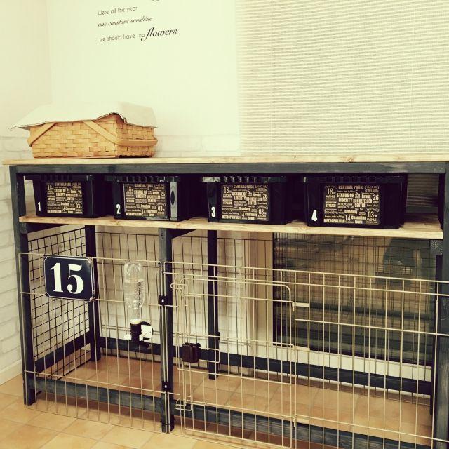 【ペットと暮らす】ケージのDIY術やトイレの隠し方実例 | RoomClip mag | 暮らしとインテリアのwebマガジン