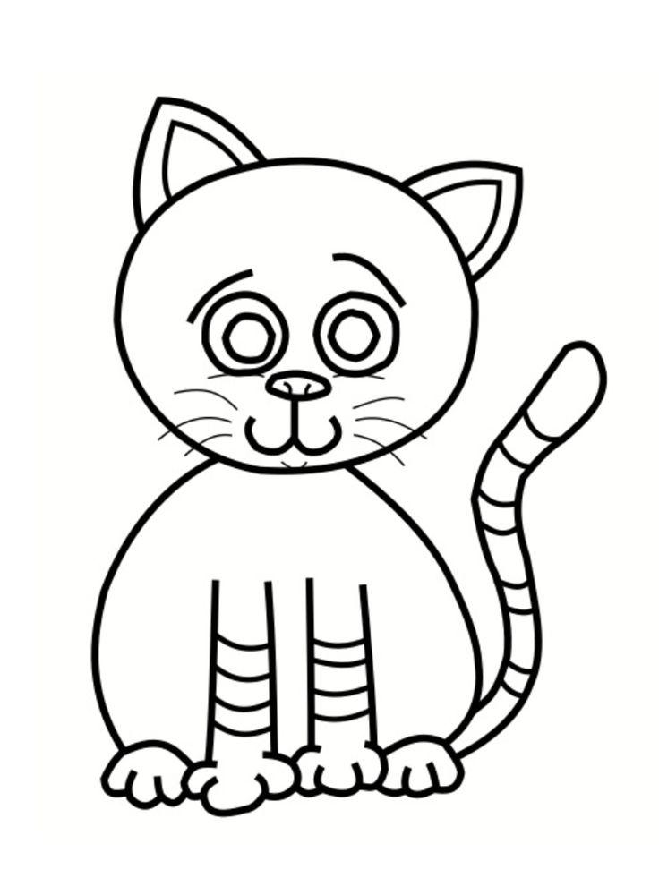 Extrêmement Plus de 25 idées uniques dans la catégorie Coloriage chat à  DC12
