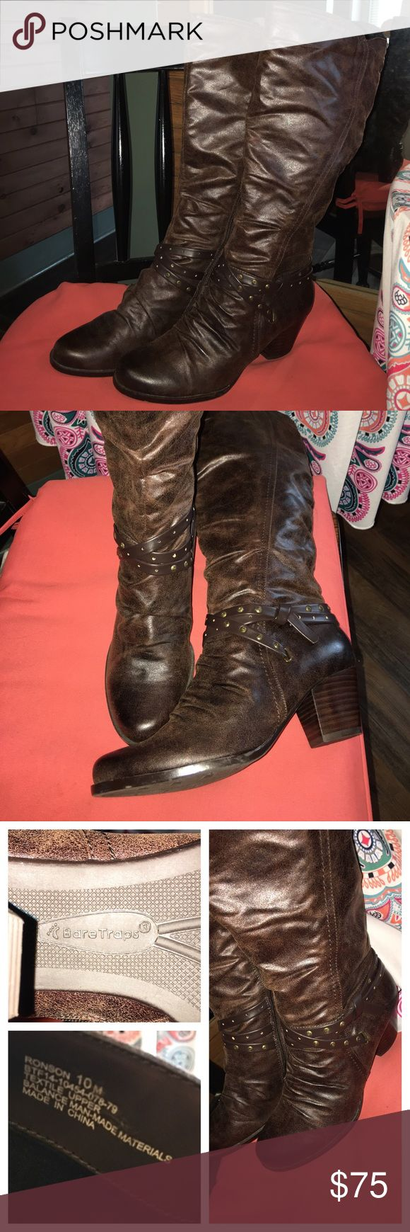 "👢Never Worn Sexy Brown Knee High BareTrap Boots👢 👢NWOT Sexy Brown Knee High BareTrap Boots👢Size 10...TRADE?? I paid $100 NEW for these and have only tried them on. I just can't wear them, im 5'10"" and have had foot surgery recently so no time soon will I be able to wear these. Thanks for looking. 😊 BearTraps Shoes Heeled Boots"