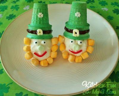 Leprechaun Ice Cream: Saint Patrick'S, St. Patties, Fun Food, Food Ideas, St. Patrick'S Day, Leprechaun Ice, Icecream, Ice Cream Cones, Ice Cream Desserts