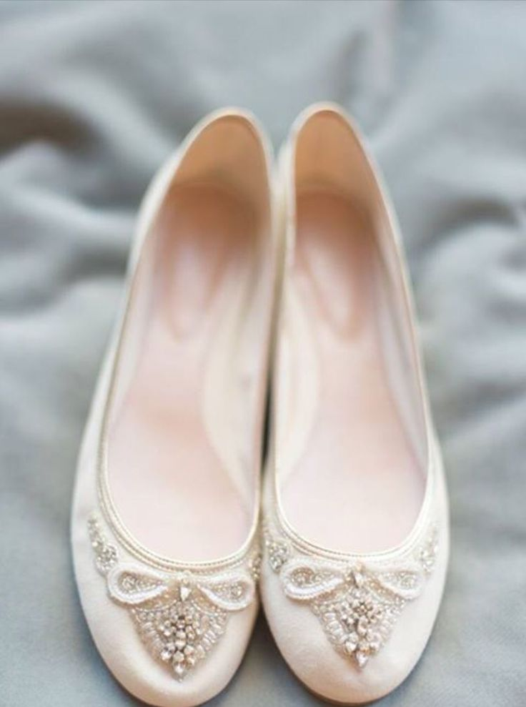 We love these bridal flats by Emmy London #pretty #bridal #shoes #flats #imgettingmarried   #bridetobe #shoeporn  #inspiration #bride #engaged #shoeshopping #princess glass slipper #weddingdress #bridesmaid #instylebridal Drummoyne