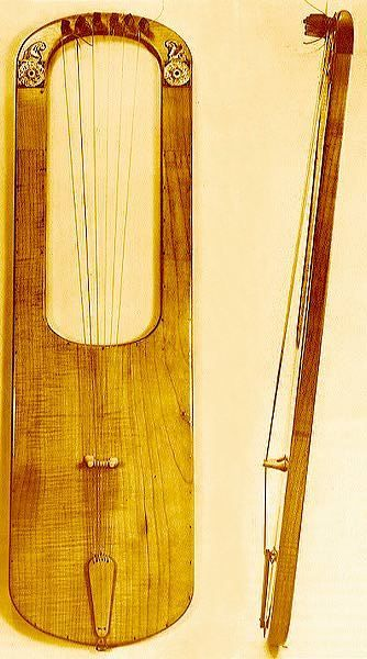 reconstructed harp (or lyre) from Sutton Hoo