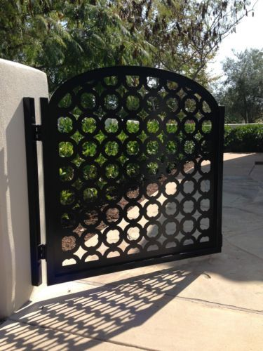 Metal Art Gate Designer Italian Wrought Iron Steel Garden