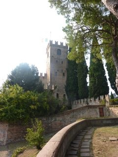 Castle at Conegliano, famous prosecco town. Italiaoutdoors bike tours of best wine regions in Italy. http://www.italiaoutdoorsfoodandwine.com/index.php/bike-tours-italy-ski-holidays-italy/cycling-wine-tours-italy-2012/bike-tours-italy-bicycle-holidays-prosecco-2012