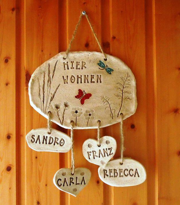 Tür- & Namensschilder - Türschild - ein Designerstück von Tonideen-von-Toepferkunst-Wienicke bei DaWanda