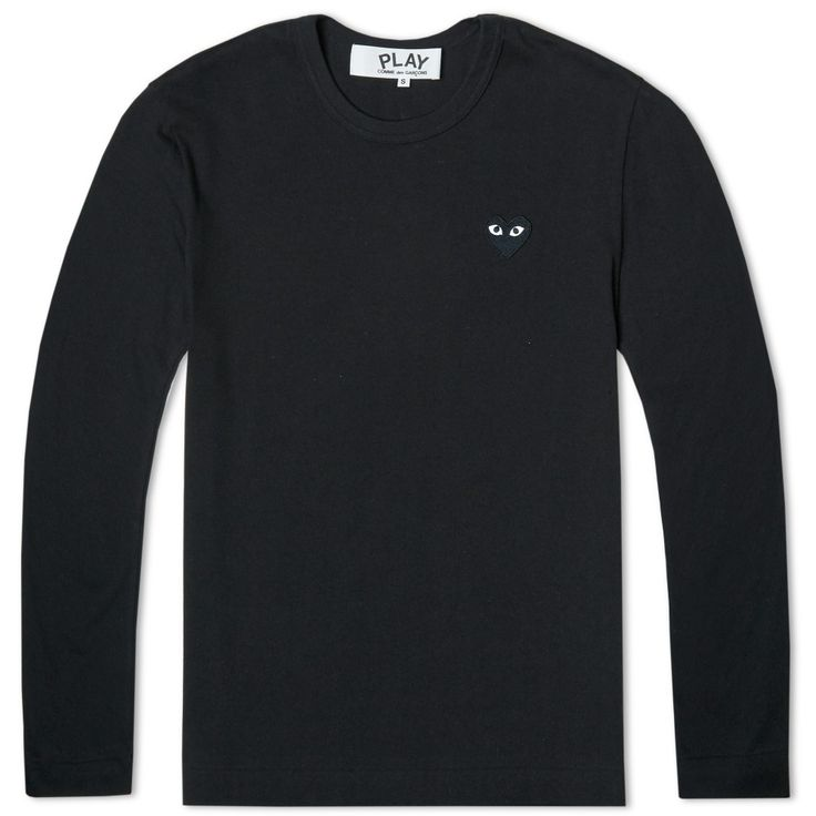 Comme des Garcons Play Long Sleeve Tee (Black & Black)