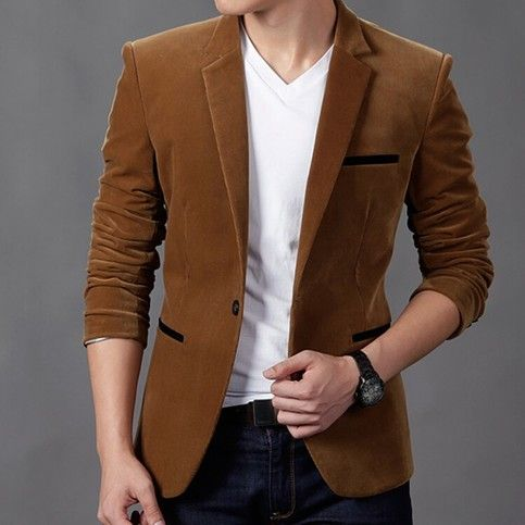 New Mens Casual Dress Slim Fit Stylish Suit Blazer Coats Jackets MS0101