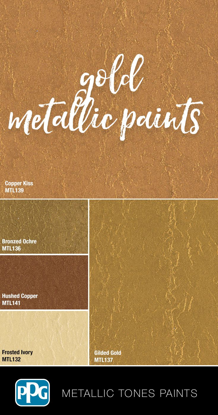 Want Your Room To Shimmer And Shine Try One Of Our Gold Colors In Our Metallic Tones Specialty Pai Gold Painted Walls Metallic Gold Paint Metallic Paint Walls