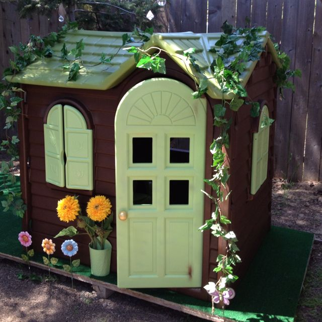 Little Tyke playhouse revamped... Just picked up a playhouse today just need to get the spray paint! So excited! :-)